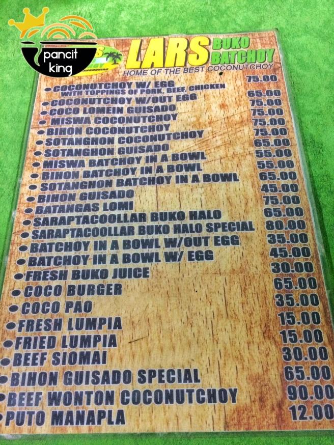 lars menu
